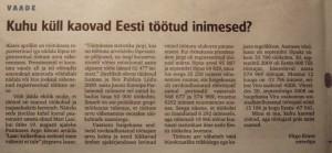 """Virumaa Teataja 13. oktoober 2010 Virgo Kruve artikkel """"Kuhu küll kaovad Eesti töötud inimesed?"""""""