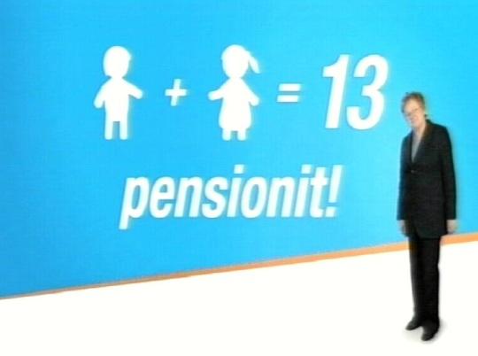 """SILMAKIRJALIKKUSE TIPP: Telereklaamis lubab Ene Ergma pensionide tõusu emapensioni kehtestamise kaudu. Tegelikult on IRL otsustanud, et """"Sinu kindel võit"""" on kohustus töötada 65. eluaastani."""