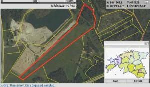 Viis aastat järjest on president Ilvese deklaratsioonis numbri järgi Ärma kinnistuks Põlvamaal asuv 6,5-hektariline põllu- ja metsamaa (tähistatud punaste joontega), kus pole ühtki ehitist.