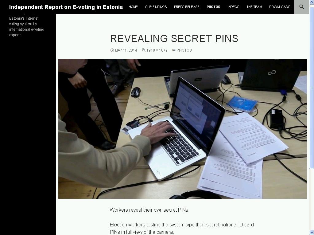 eksitav info PIN-koodi sisestamisest