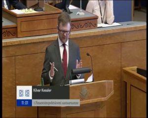 Finantsinspektsiooni juht Kilvar Kessleri ettekanne